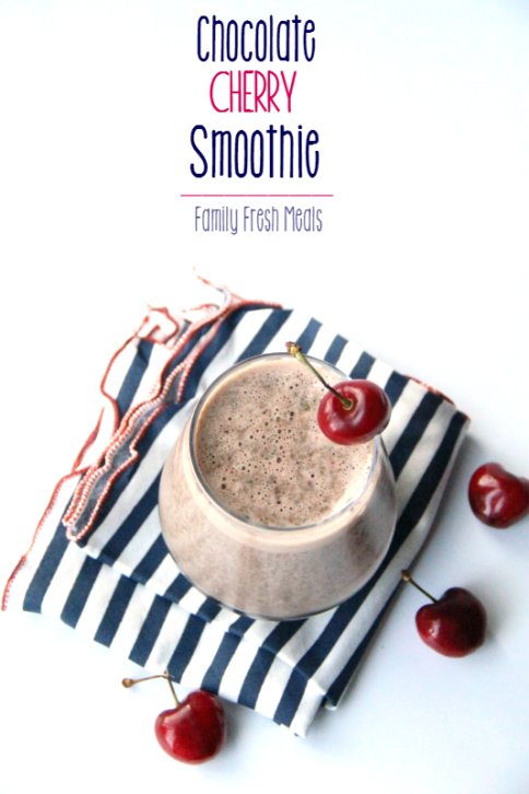 Chocolate Cherry Smoothie --- FamilyFreshMeals.com