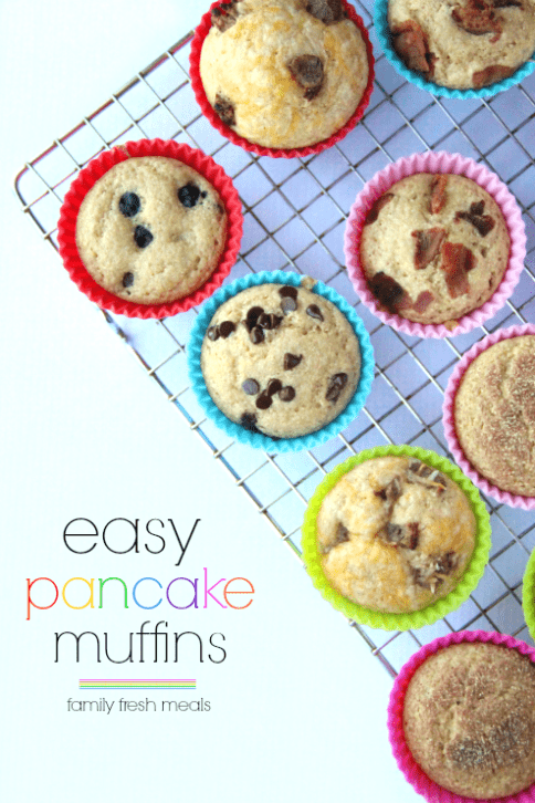 Easy Baked Pancake Muffins on a cooling rack