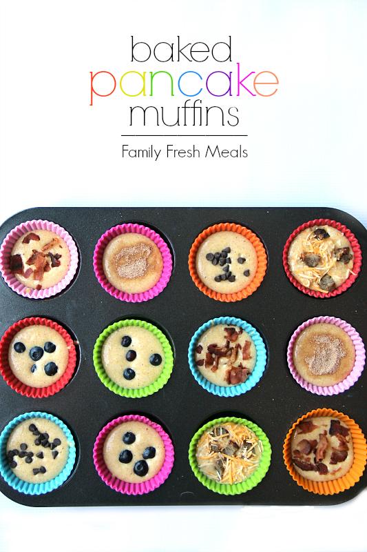 Easy Baked Pancake Muffins - FamilyFreshMeals.com -
