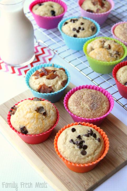 Easy Baked Pancake Muffins - FamilyFreshMeals.com ---