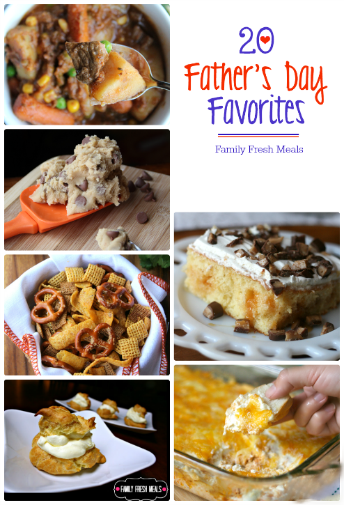 Let's get ready for a Father's Day Feast! The Best Father's Day Recipes - FamilyFreshMeals.com