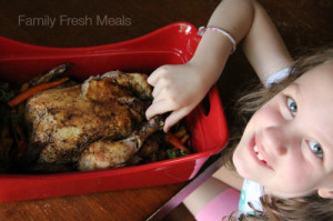 How to Roast a Whole Chicken in the Crockpot - FamilyFreshMeals.com -