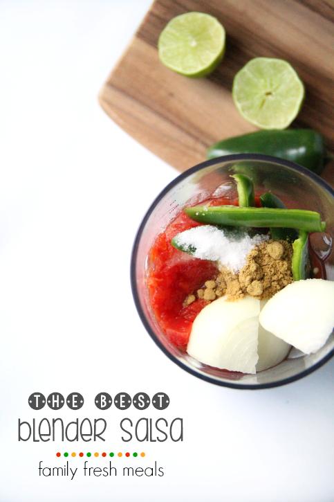 THE BEST Blender Salsa Recipe - FamilyFreshMeals.com
