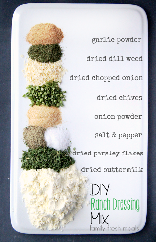 DIY Homemade Ranch Dressing mix - FamilyFreshMeals