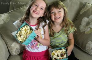 DIY Movie Night Popcorn Bar - FamilyFreshMeals.com -