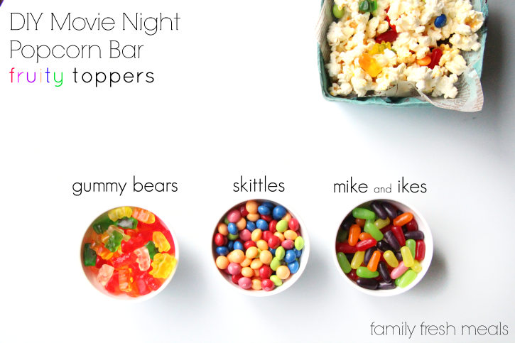 outdoor family of 4 picture ideas - DIY Movie Night Popcorn Bar Family Fresh Meals