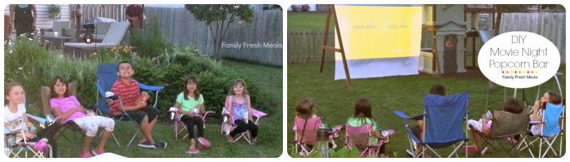 DIY Movie Night Popcorn Bar - fun family night!