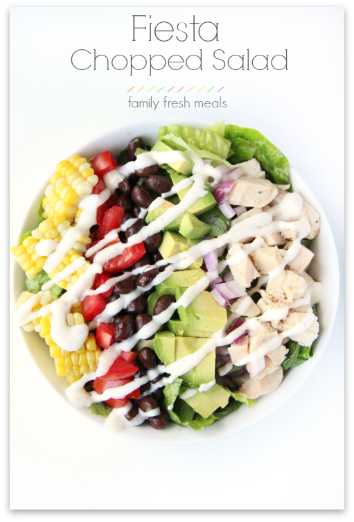 Fiesta Chopped Salad - Family Fresh Meals -