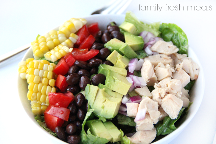 Fiesta Chopped Salad - Family Fresh Meals --