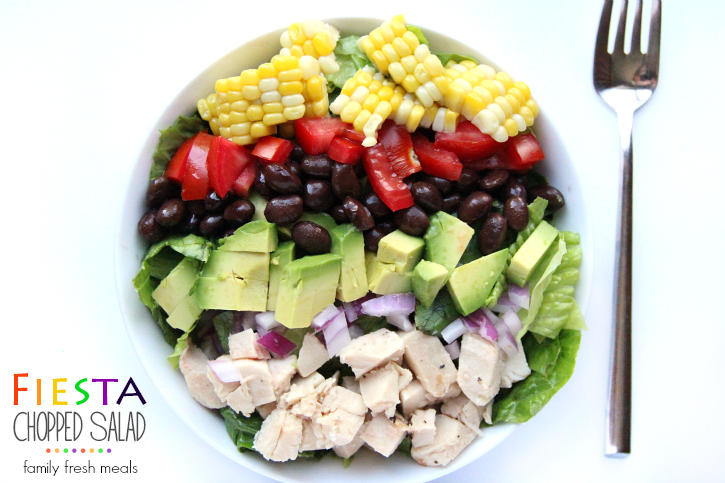 Fiesta Chopped Salad - FamilyFreshMeal
