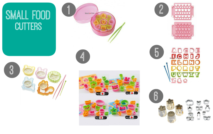 collage image showing small food cutters
