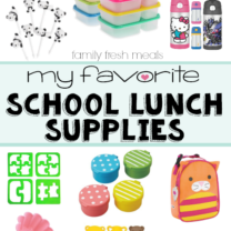 My Favorite Back to School Lunch Supplies