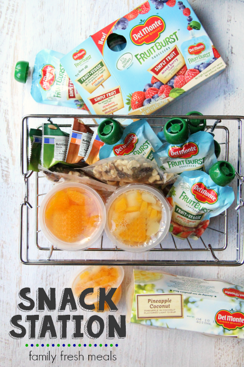 Snack station ideas from FamilyFreshMeals.com
