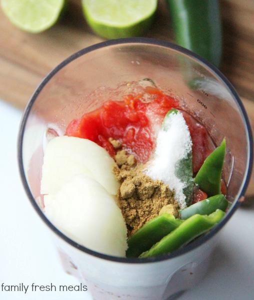 The Best Blender Salsa  Recipe- Ingredients - Family Fresh Meals -