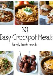 30 Easy Crockpot Recipes
