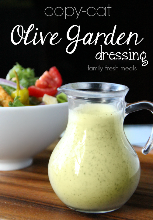 Copycat olive garden salad dressing in a glass container
