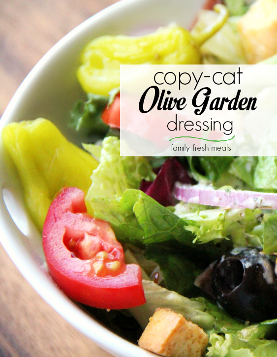 Copycat Olive Garden Salad Dressing Recipe - Family Fresh Meals