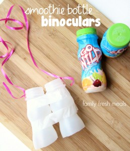 Outdoor Scavenger Hunt - FB- FamilyFreshMeals - Yogurt Bottle Binoculars