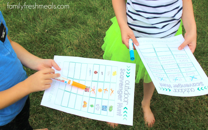Outdoor Scavenger Hunt --- FamilyFreshMeals.com - -
