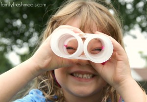 Outdoor Scavenger Hunt - with diy binoculars - FamilyFreshMeals.com - -