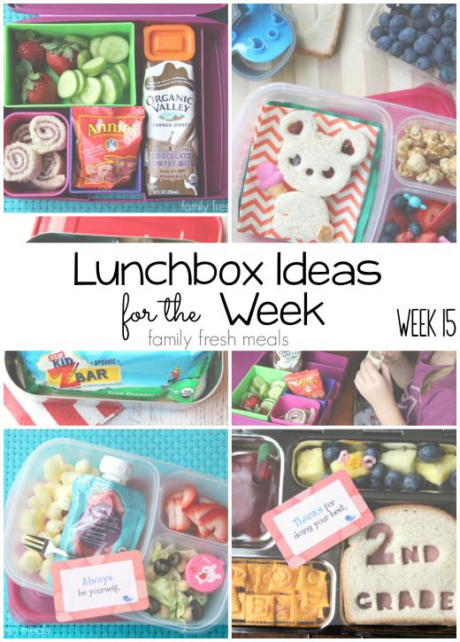 Rock The Lunchbox - School Lunchbox Ideas -- Week 15- FamilyFreshMeals.com