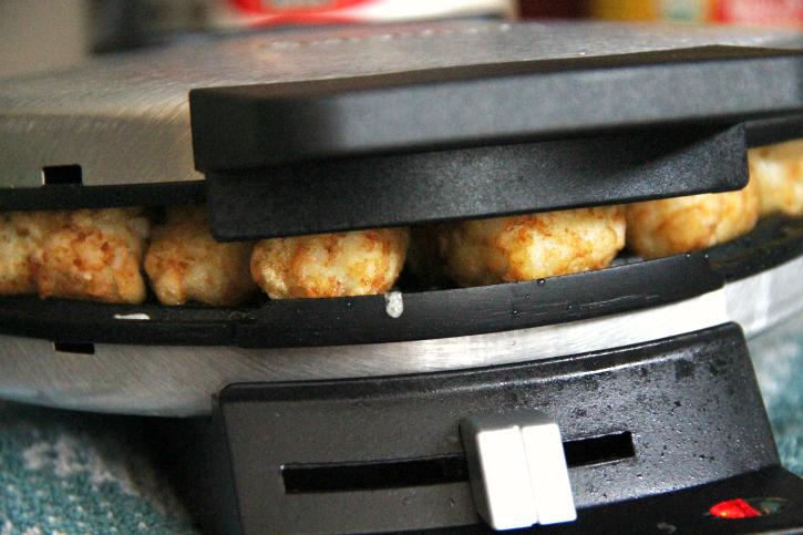 Waffle Iron Hash Brown Tater Tots - Step 3 - FamilyFreshMeals