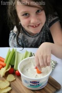 easy greek yogurt dip - familyfreshmeals.com