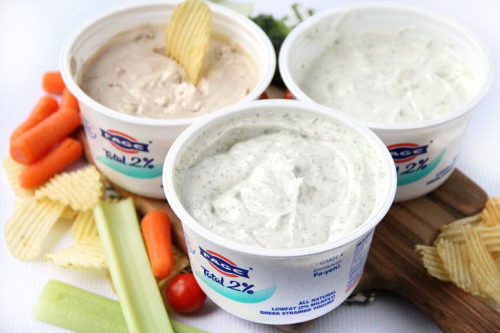 Easy Greek Yogurt Dips - familyfreshmeals.com -