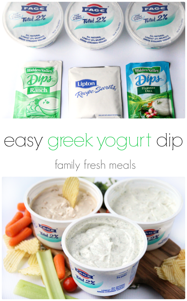 easy greek yogurt dips - familyfreshmeals.com - make in 20 seconds! - Healthy and Yummy!