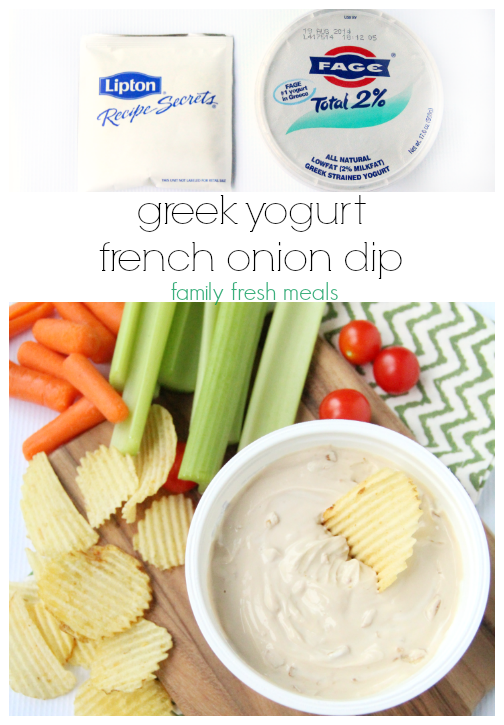 greek yogurt  french onion dip - recipe- familyfreshmeals.com