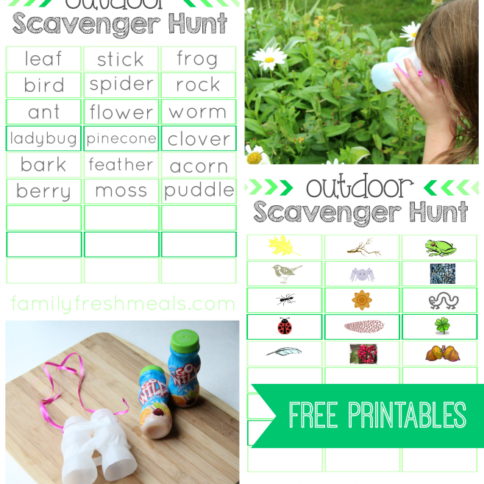 outdoor scavenger hunt free printables - familyfreshmeals