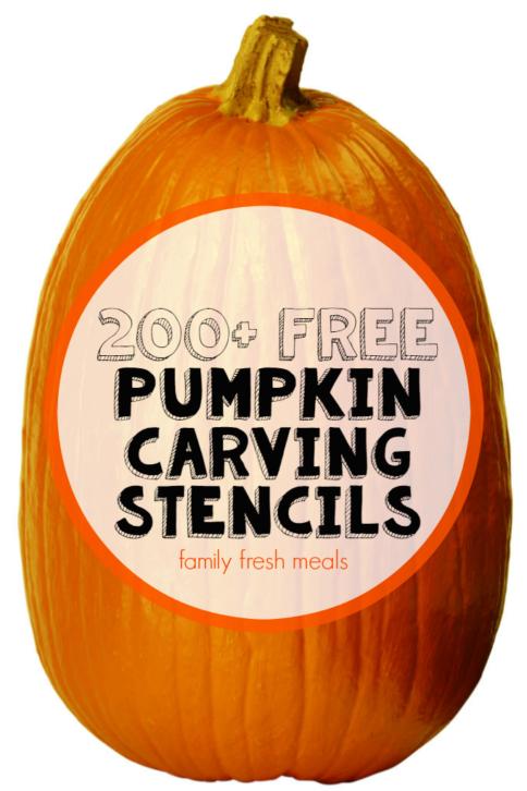 200+ Free Pumpkin Carving Stencils -familyfreshmeals.com