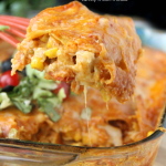 Cheesy Chicken Enchilada Casserole
