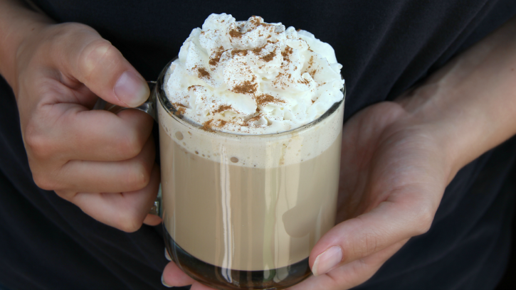 Slow-Cooker Pumpkin Latte Coffee- FamilyFreshMeals.com - crockpot coffee