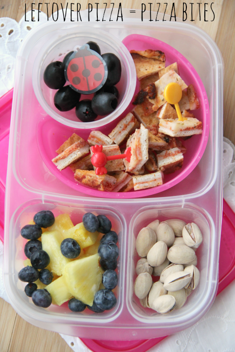 Leftover Pizza = Pizza Bites for lunch! - School and Work Lunchbox Ideas - FamilyFreshMeals.com