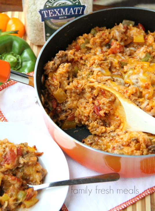One Pot Stuffed Pepper Casserole - FamilyFreshMeals.com - step 8a