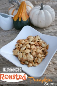 Ranch Roasted Pumpkin Seeds in a bowl