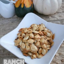 Ranch Roasted Pumpkin Seeds