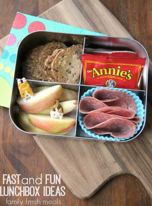 Week 18 School Lunch Box Ideas - Fast and Fun Lunchbox Ideas - FamilyFreshMeals.com