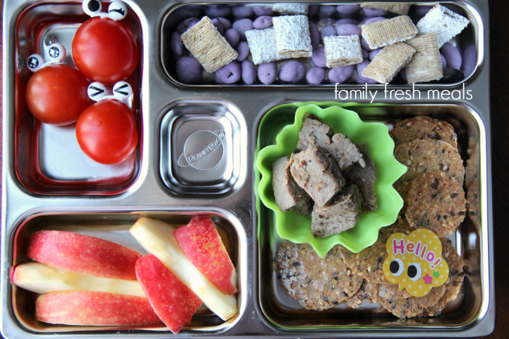 Week 18 School Lunch Box Ideas - Leftovers packed for lunch - familyfreshmeals.com
