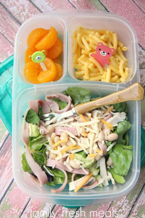 Week 18 School Lunch Box Ideas - Quick chopped salad - FamilyFreshMeals.com