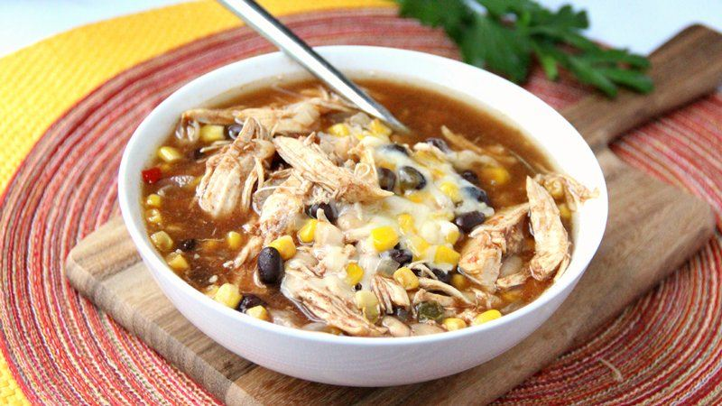 25 Comforting Crockpot Soups and Stews - Slow-Cooker BBQ Chicken Soup