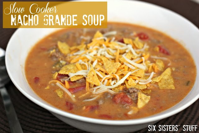 25 Comforting Crockpot Soups and Stews - slow cooker nacho grande soup