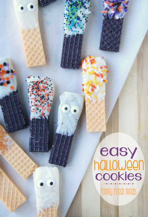 Easy Halloween Cookies --- familyfreshmeals.com --