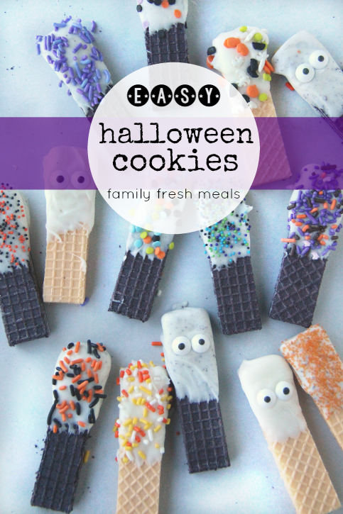 Easy Halloween Cookies laid out on a plater