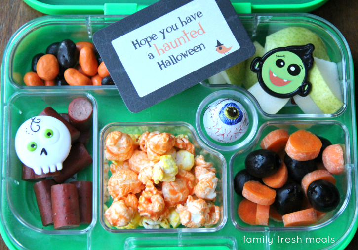 Fun Halloween Lunch Box Ideas - Halloween Bento - FamilyFreshMeals.com
