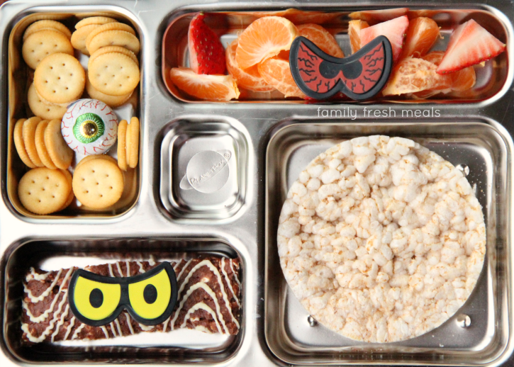 Fun Halloween Lunch Box Ideas - Spooky Eyes - FamilyFreshMeals.com