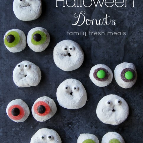 Spooky Fun Halloween Donuts - - FamilyFreshMeals.com - Fun for Halloween Breakfast or Dessert!