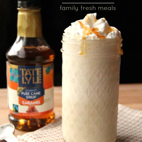 Salted Caramel Smoothie - FamilyFreshMeals.com --