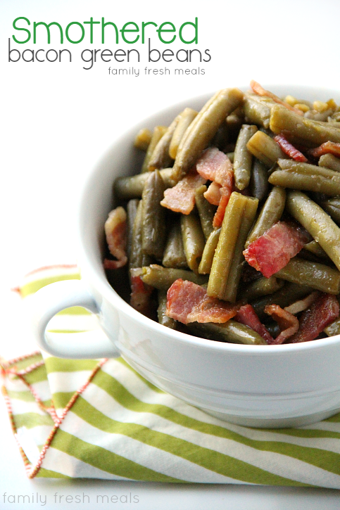 Smothered Green Beans Recipe — Dishmaps